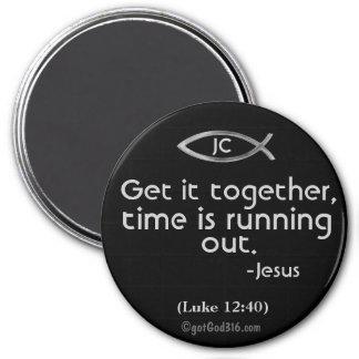 Get it together gotGod316.com Scripture 7.5 Cm Round Magnet