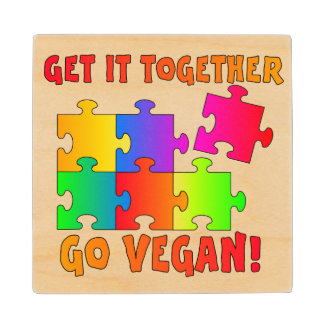 Get It Together Jigsaw Wood Coaster