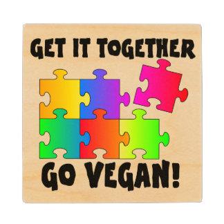 Get It Together Jigsaw Wood Coaster