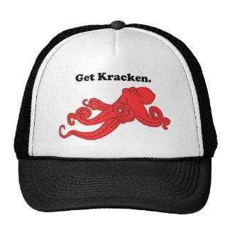 Get Kraken Red Octopus Squid Cartoon Cap