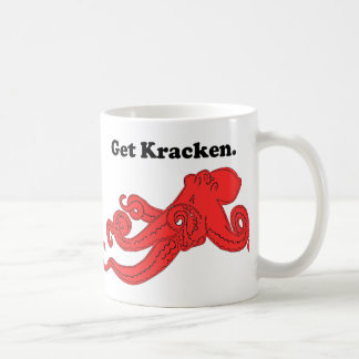 Get Kraken Red Octopus Squid Cartoon Coffee Mug