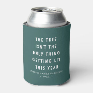 Get Lit | Personalized Christmas Can Cooler
