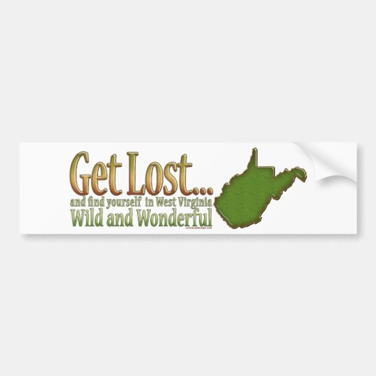 Get Lost...Bumpersticker Bumper Sticker