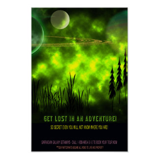 Get Lost in an Adventure Travel Poster