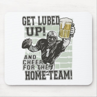 Get Lubed Up Football Mouse Pad