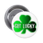 Get Lucky 09 St Patrick Button
