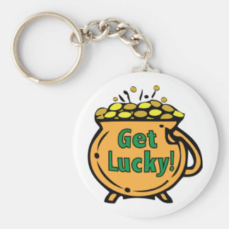 Get Lucky Basic Round Button Key Ring