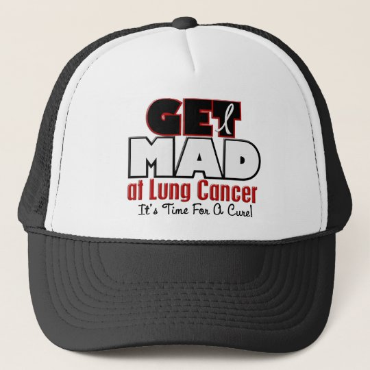 Get Mad At Lung Cancer Cap