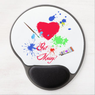 Get Messy!-Paint Splotches and Heart/Artist Gel Mouse Pad