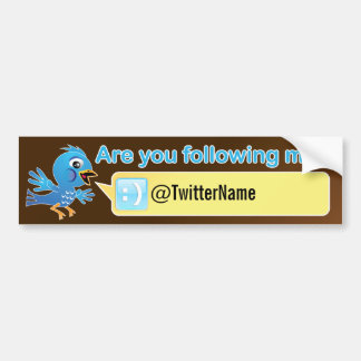 Get more followers. Customizable Twitter Bumper Sticker