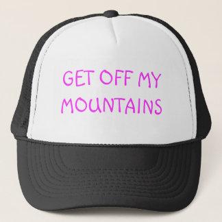 GET OFF MY MOUNTAINS TRUCKER HAT