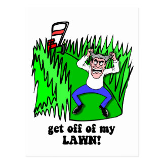 get off of my lawn post cards