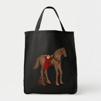 """get off your high horse"" tote bag"