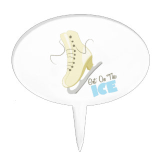 Get On The Ice Cake Topper