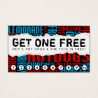 get one free HOT DOG Business Card