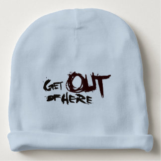 get out of here graffiti art baby beanie