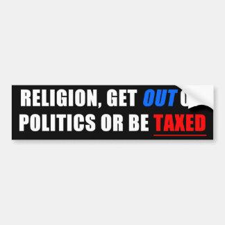Get Out of Politics! Bumper Sticker
