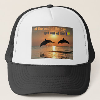 Get Out of the Bay Trucker Hat