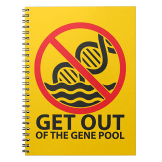Get Out of the Gene Pool Spiral Note Book