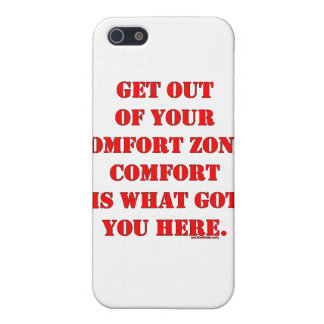 Get Out of Your Comfort Zone! iPhone 5/5S Cases