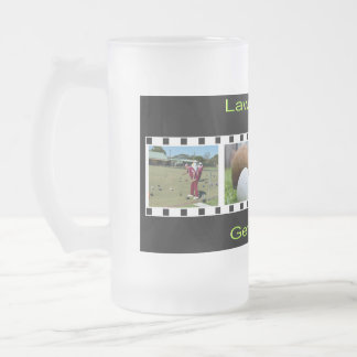 Get Out There And Bowl, Big Frosted Glass Beer Mug