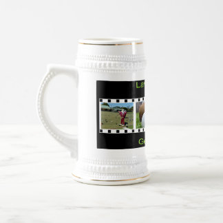Get Out There And Bowl, White Beer Stein Mug