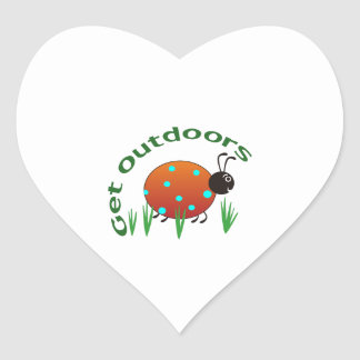 GET OUTDOORS HEART STICKERS