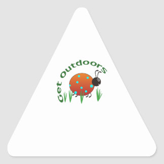 GET OUTDOORS TRIANGLE STICKER