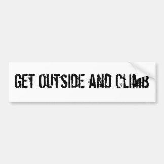 Get Outside and Climb Bumper Sticker