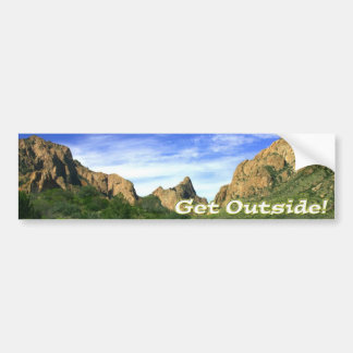 Get Outside Car Bumper Sticker