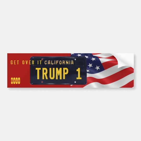 GET OVER IT CALIFORNIA! TRUMP WON BUMPER STICKER