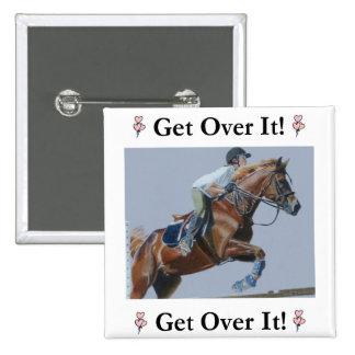 Get Over It! Horse Jumper 15 Cm Square Badge