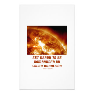 Get Ready To Be Bombarded By Solar Radiation Personalised Stationery