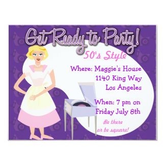 Get Ready to Party! 11 Cm X 14 Cm Invitation Card