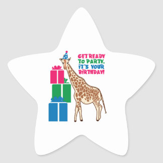 Get Ready To Party It s Your Birthday Star Stickers
