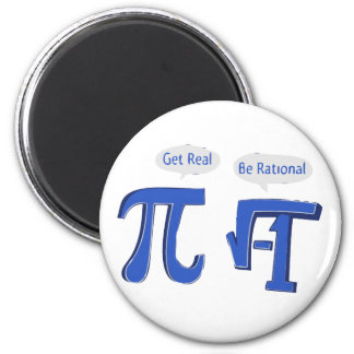 Get Real Be Rational 6 Cm Round Magnet