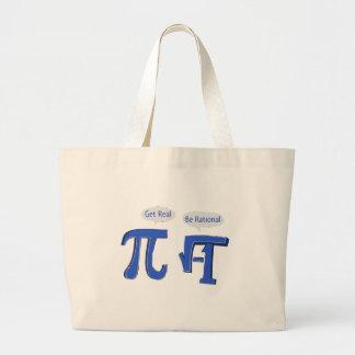 Get Real Be Rational Jumbo Tote Bag