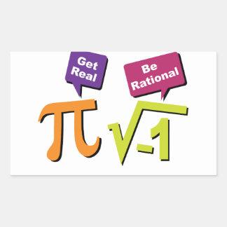 Get Real - Be Rational Rectangular Sticker