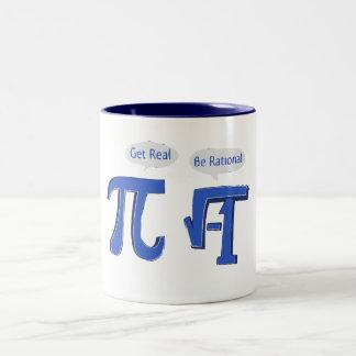 Get Real Be Rational Two-Tone Mug
