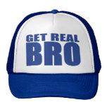 Get Real Bro Trucker Hat (blue)