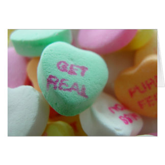 Get Real Candy Heart Card