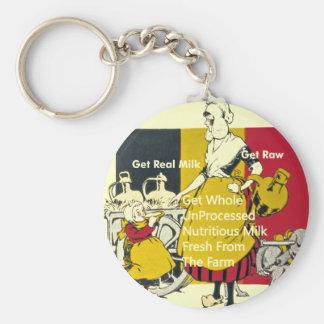 Get Real Milk - Get Raw Basic Round Button Key Ring