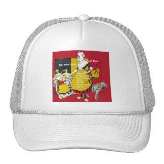Get Real Milk- Get Raw Vintage Poster Trucker Hat