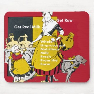 Get Real Milk- Get Raw Vintage Poster Mouse Pad