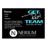 Get Real Team Chubby Cards Business Card Template