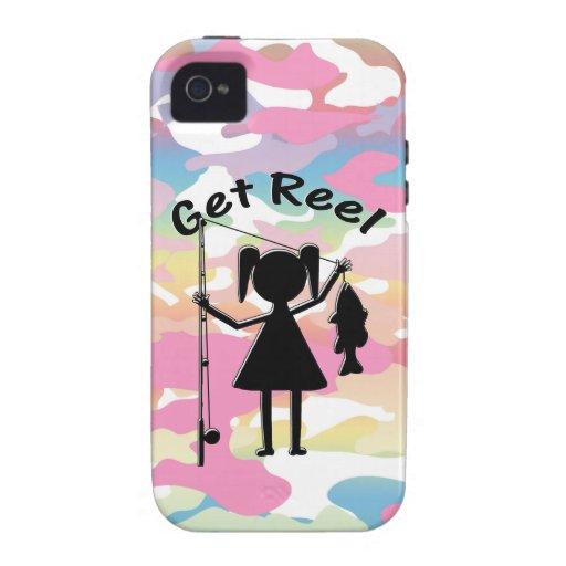 Get Reel - Little Girls Fishing Vibe iPhone 4 Case