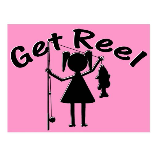 Get Reel - Little Girls Fishing Post Card