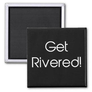 Get Rivered Square Magnet