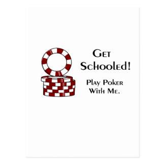 Get Schooled poker gaming items Postcard