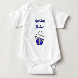 Get set bake blue cupcake baby bodysuit